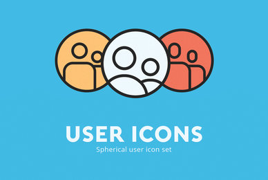 Spherical User Icons