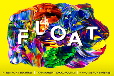 Float Isolated Abstract Paint Textures