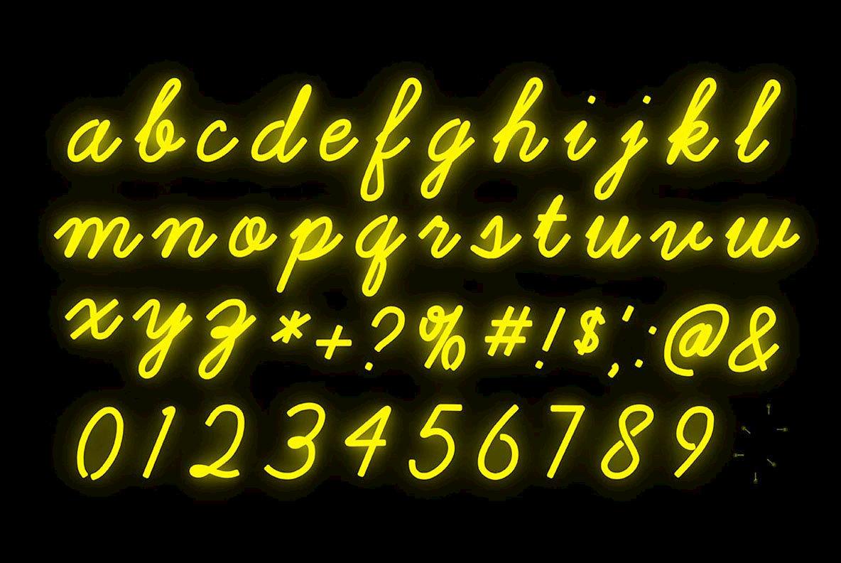 Neon text font idealstalist neon text font altavistaventures Image collections