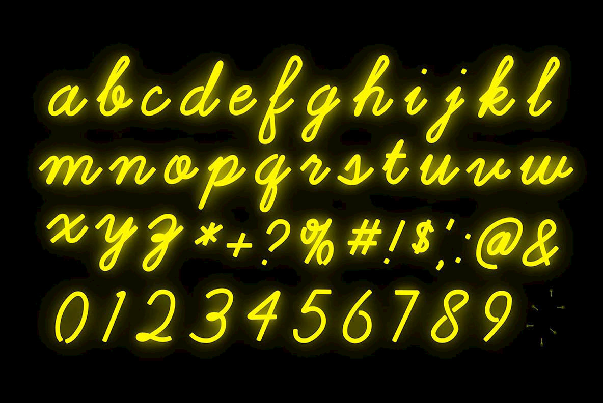 Cursive neon type graphics youworkforthem cursive neon type thecheapjerseys Gallery