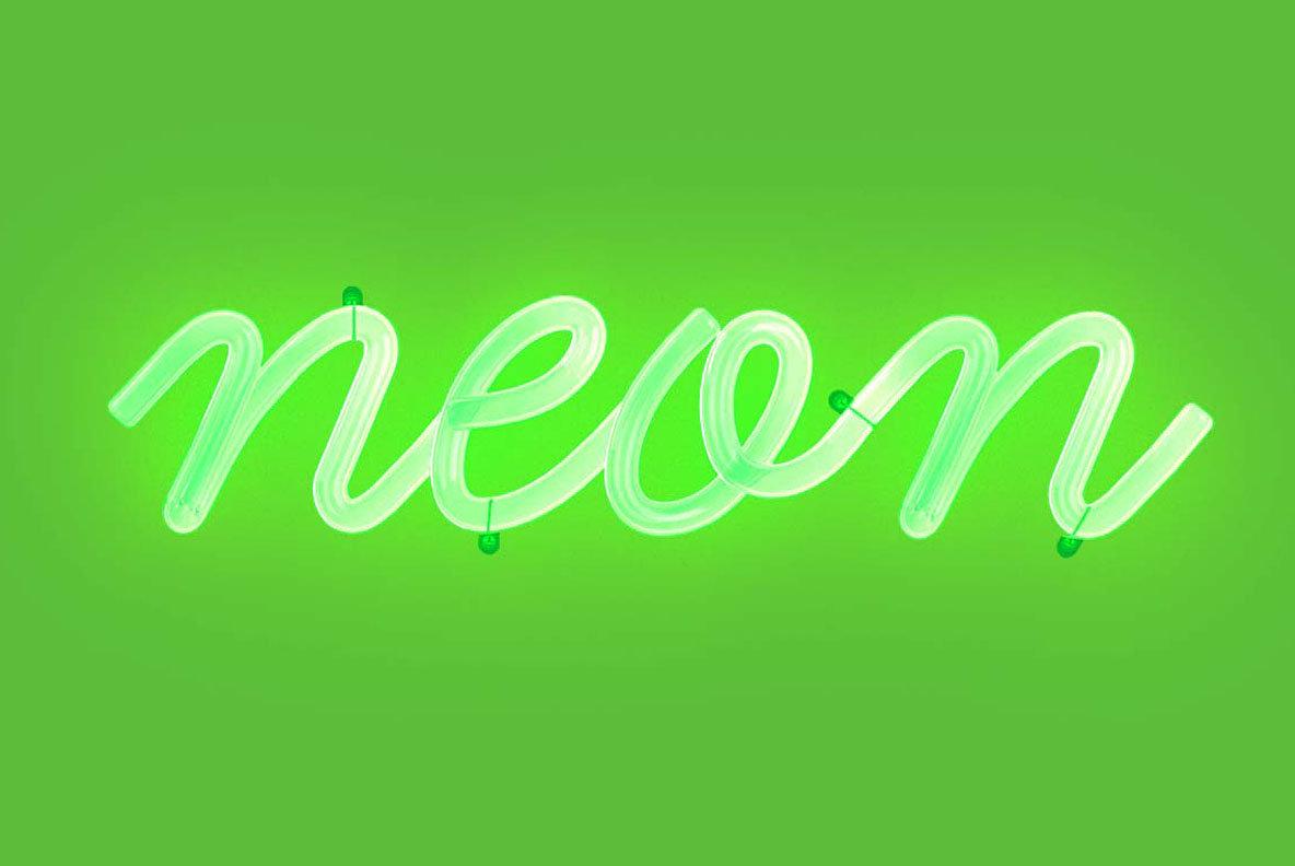 Cursive Neon Type