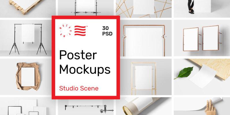 Poster Mockups   Studio Scene