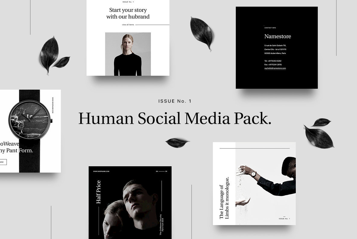 Human Social Media Pack