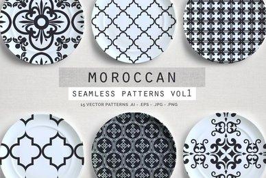 Moroccan Seamless patterns vol1