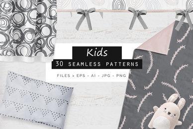 Kids Seamless Patterns