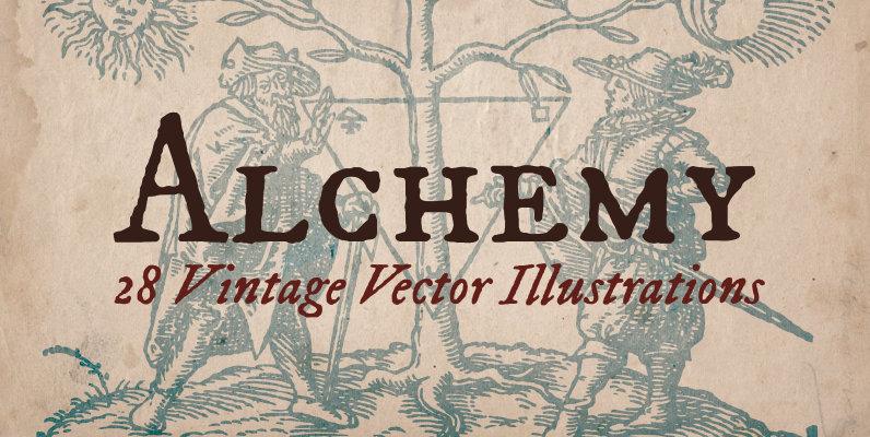 Vintage Alchemy Illustrations
