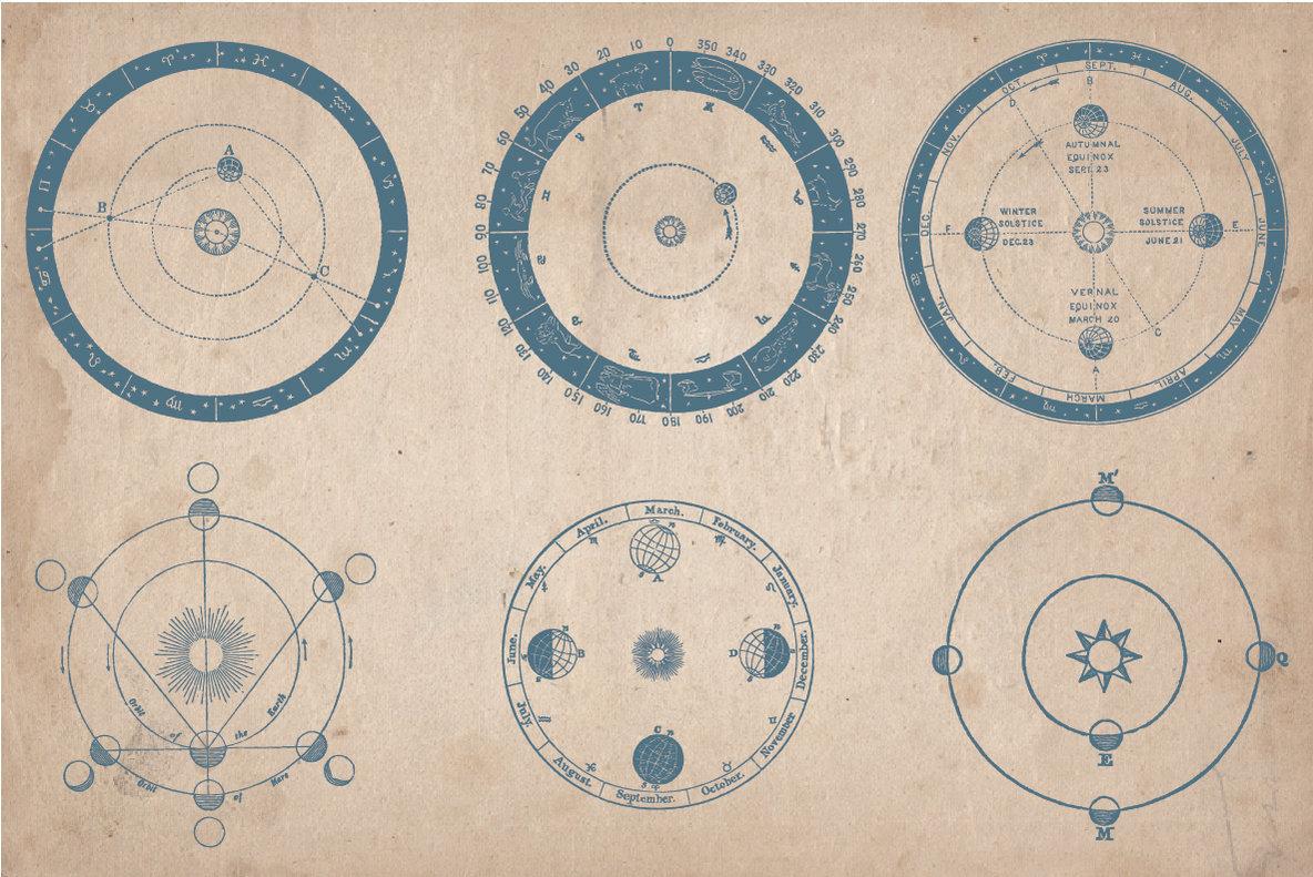 Vintage Astronomy Illustrations