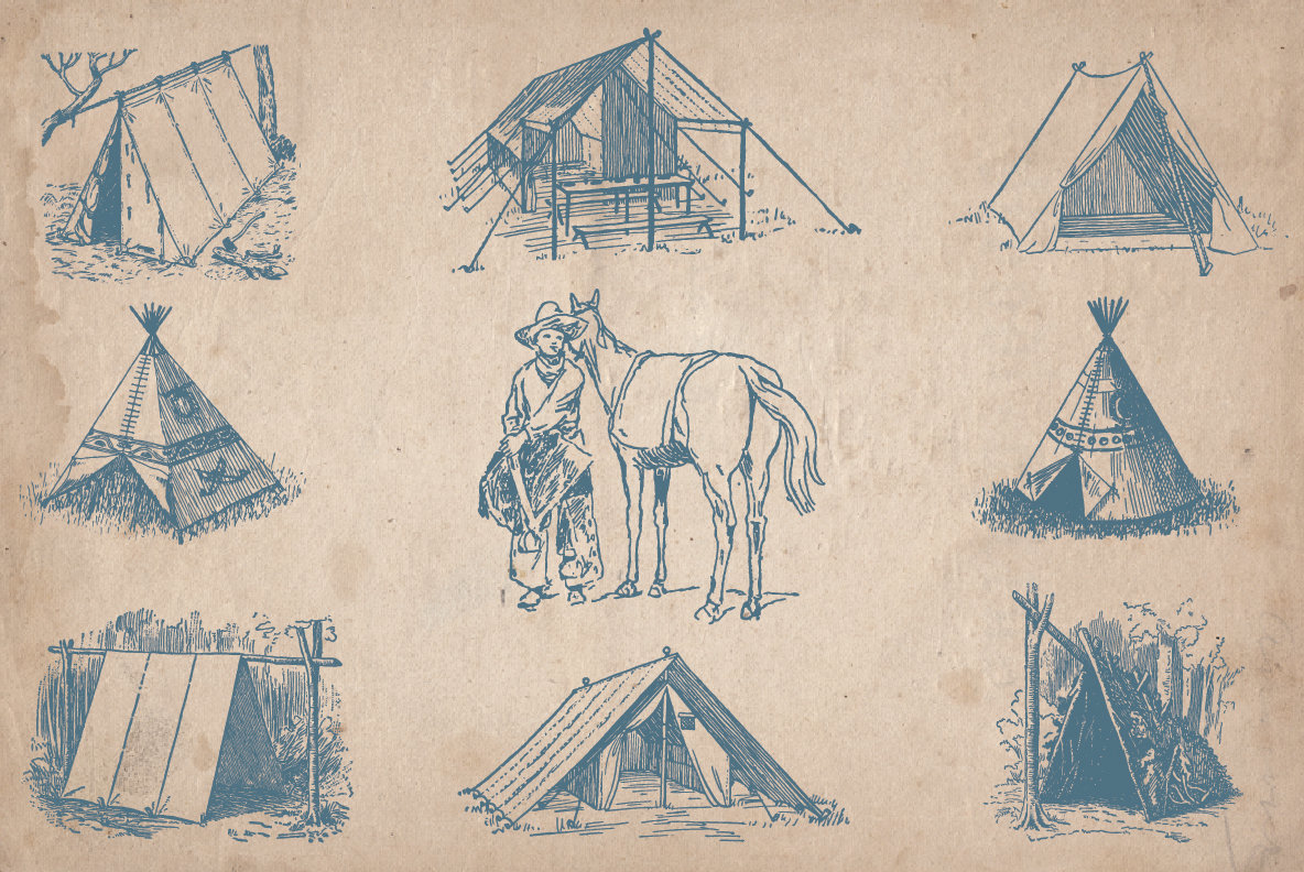 Vintage Outdoors Illustrations