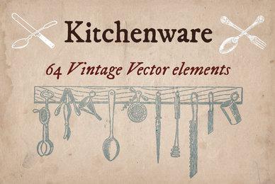 Vintage Kitchenware Elements