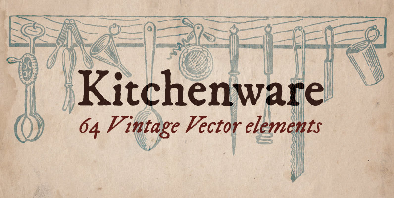 Vintage Kitchenware Elements