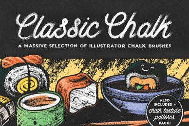 Classic Chalk   Brushes   Patterns