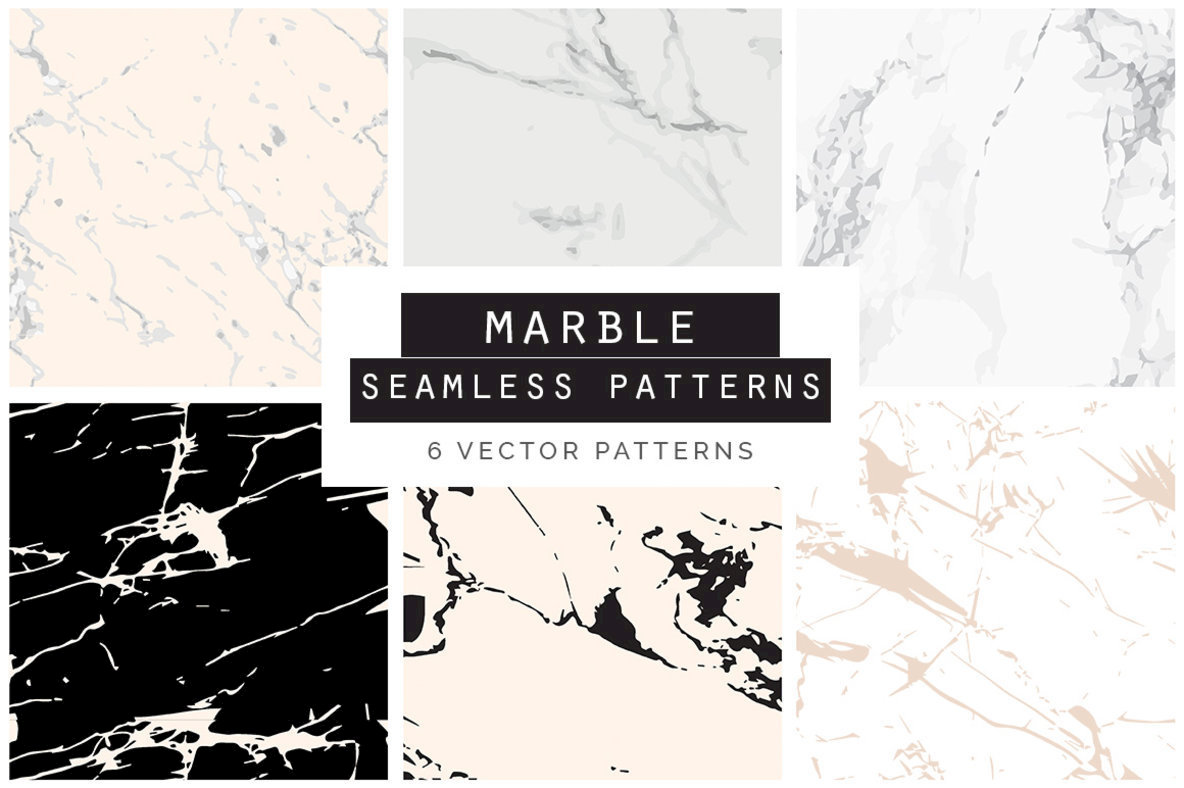 Marble Seamless Vector Patterns