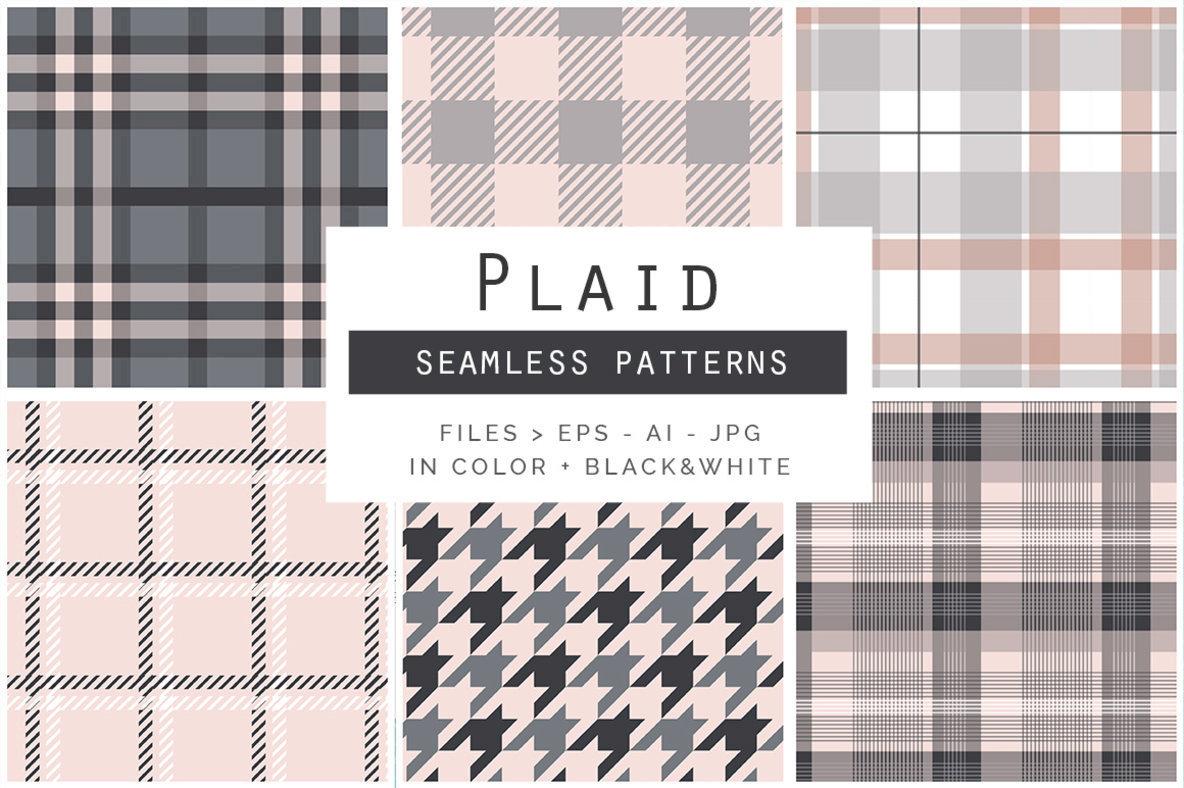 Plaid Seamless Patterns