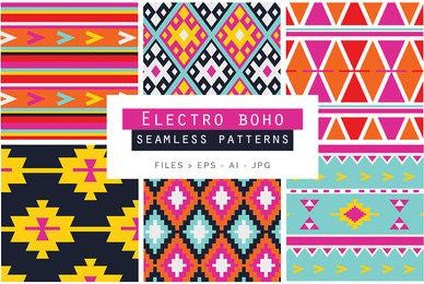 Electro Boho Seamless Patterns