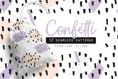 Confetti Patterns set of 12