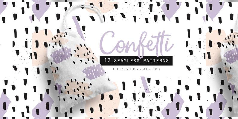 Confetti Patterns set of 12