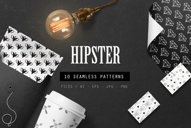 10 Seamless Hipster Patterns