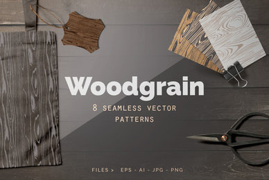 Seamless Wood Grain Vector Patterns