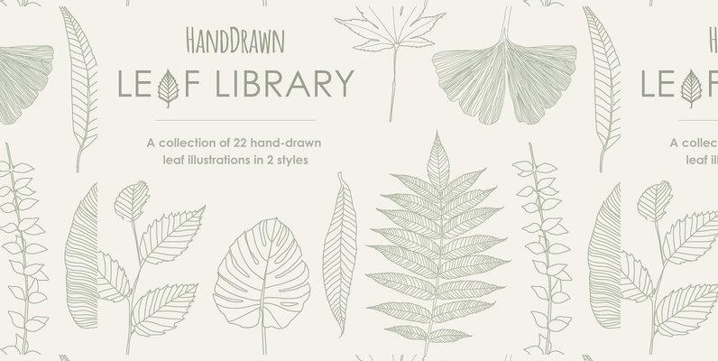 HandDrawn Leaf Library