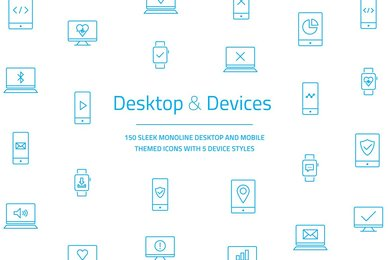 Desktop  Devices Vector Icon Set