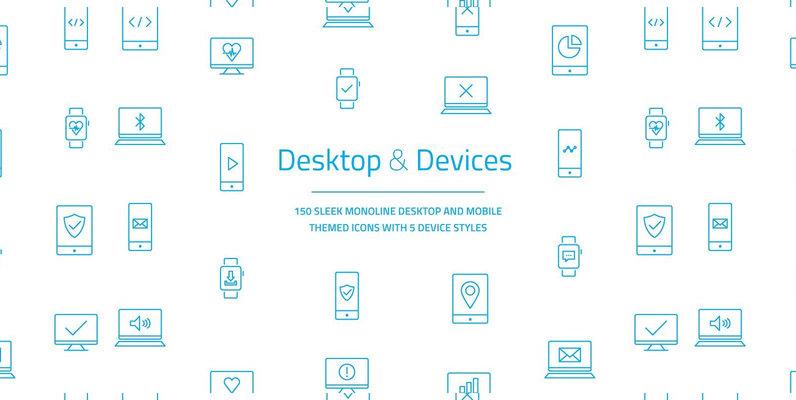 Desktop   Devices Vector Icon Set
