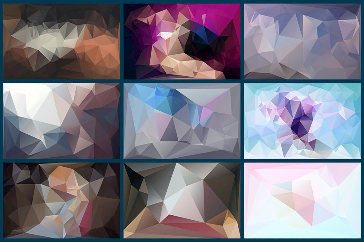Polygon Abstract Backgrounds 12