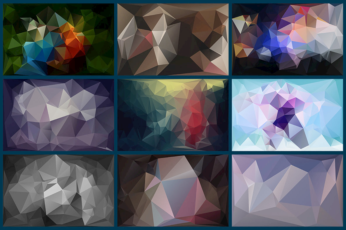 Polygon Abstract Backgrounds 16