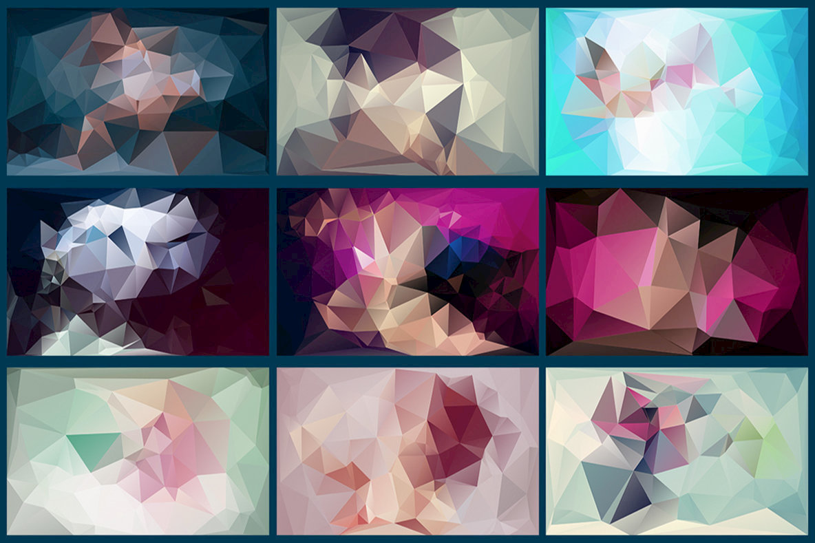 Polygon Abstract Backgrounds 17