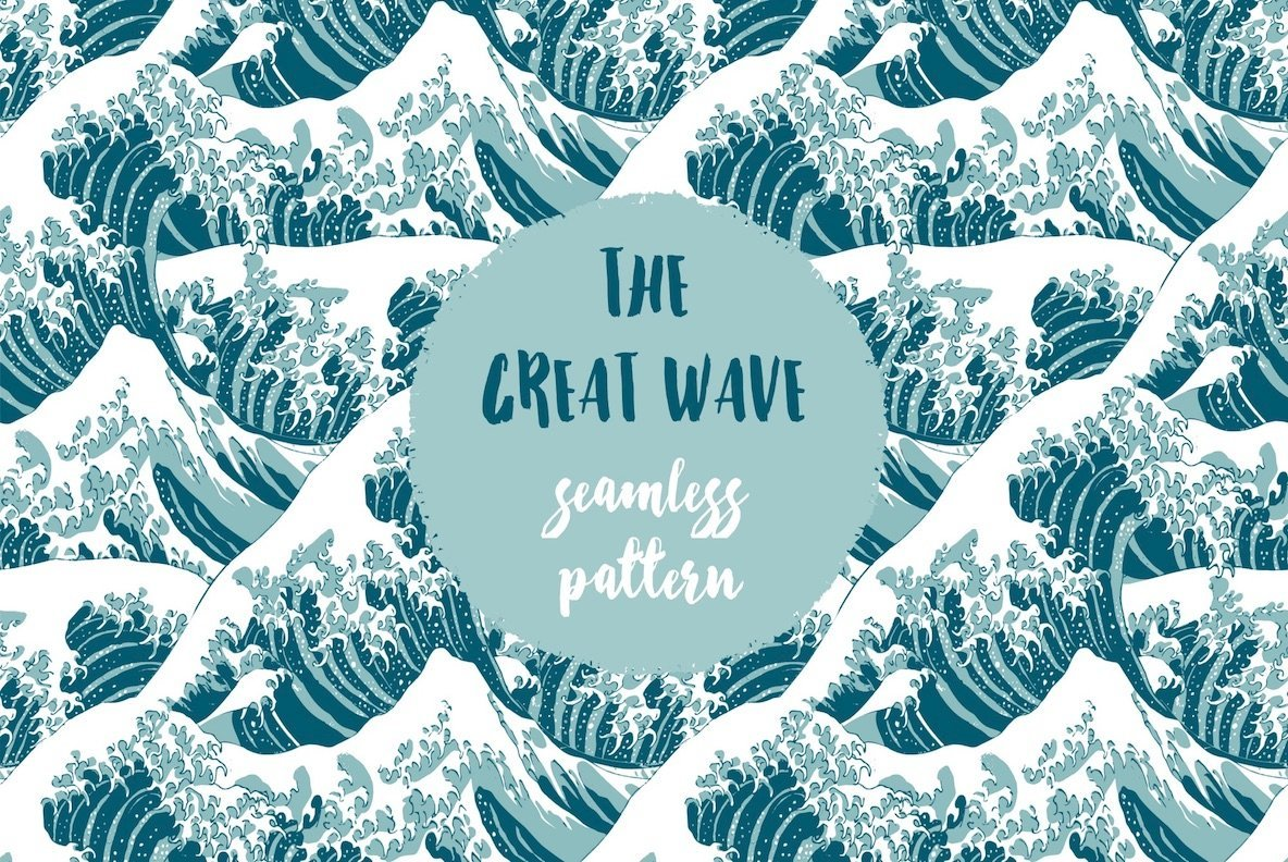 The Great Wave   Seamless Pattern