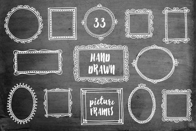 33 Hand Drawn Picture Frames