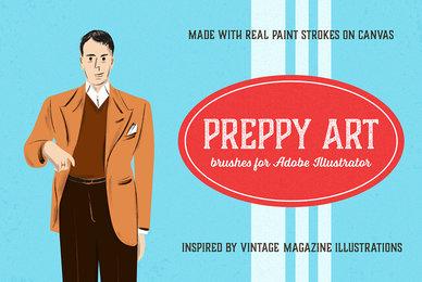 Preppy Art Brushes for Adobe Illustrator
