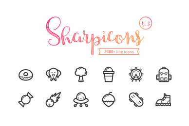 Sharpicons   2400 Line Vector Icons