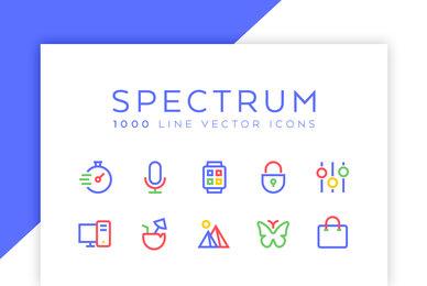 Spectrum Line Icons
