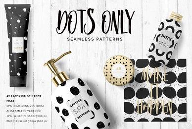 Dots  Spots Seamless Patterns
