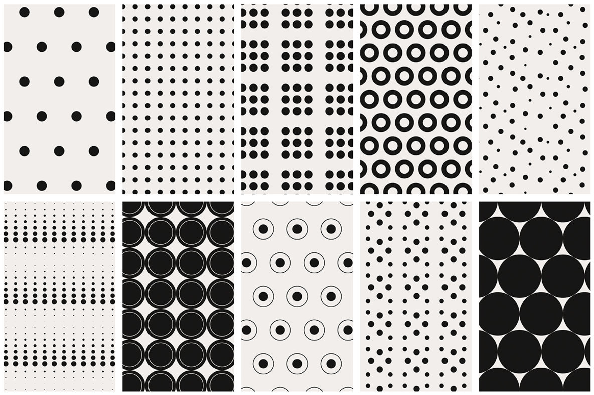 Dots   Spots Seamless Patterns