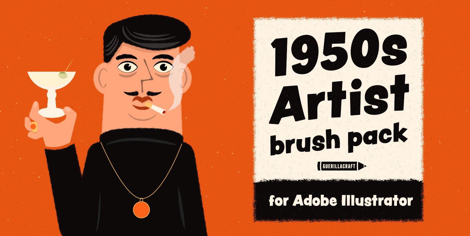 1950s Artist Brush Pack