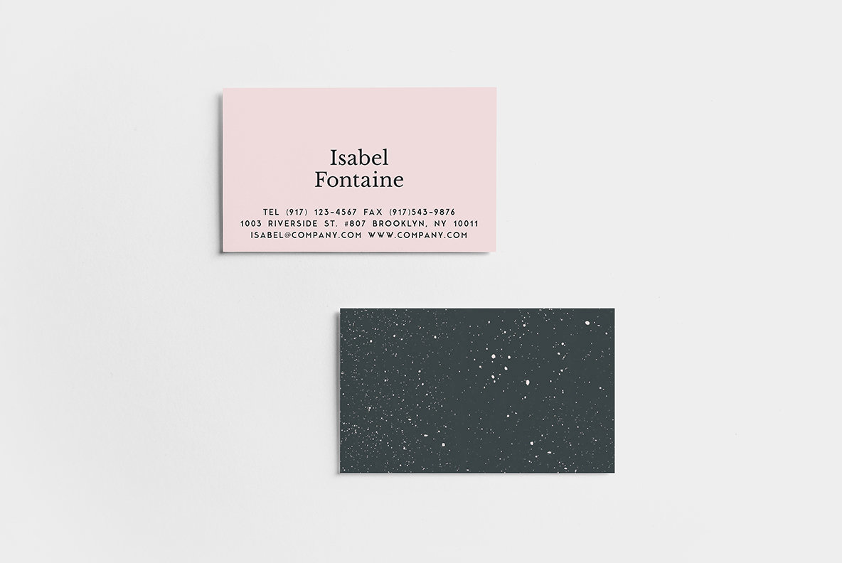 Speckle Business Card