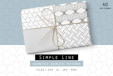 Simple Line Geometric Patterns