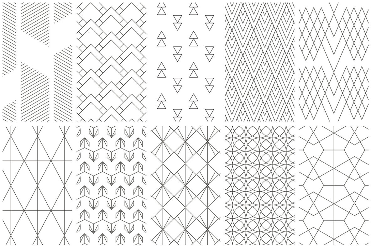 Geometric Line Design Patterns : Simple line geometric patterns graphics youworkforthem