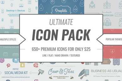 Ultimate Icon Pack   660 Vector Icons