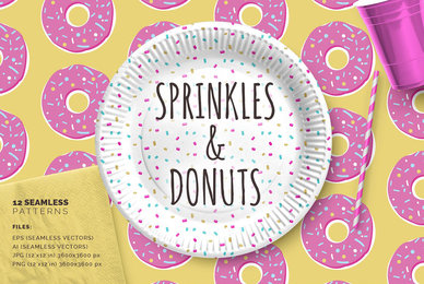 Sprinkles  Donuts Patterns