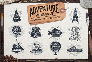 Adventure Vintage Badges 2