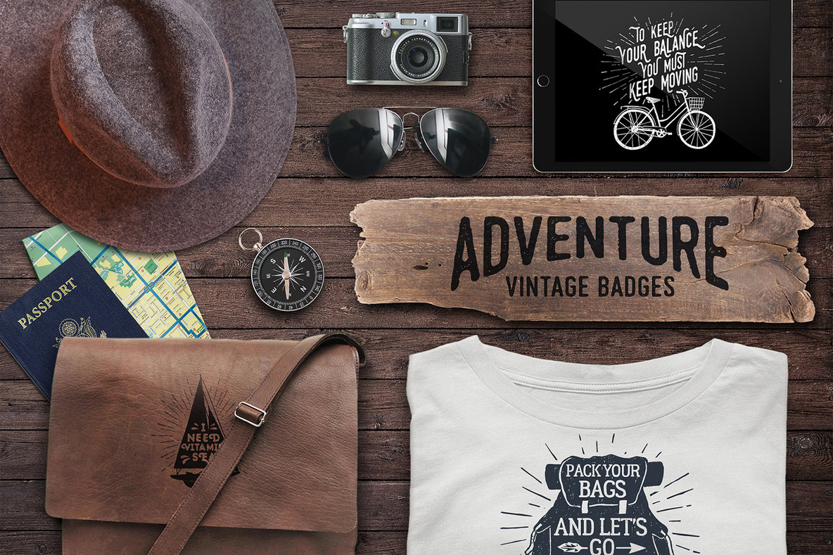 Adventure Vintage Badges 2