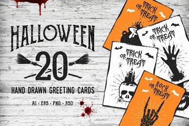20 Halloween Greeting Card Designs
