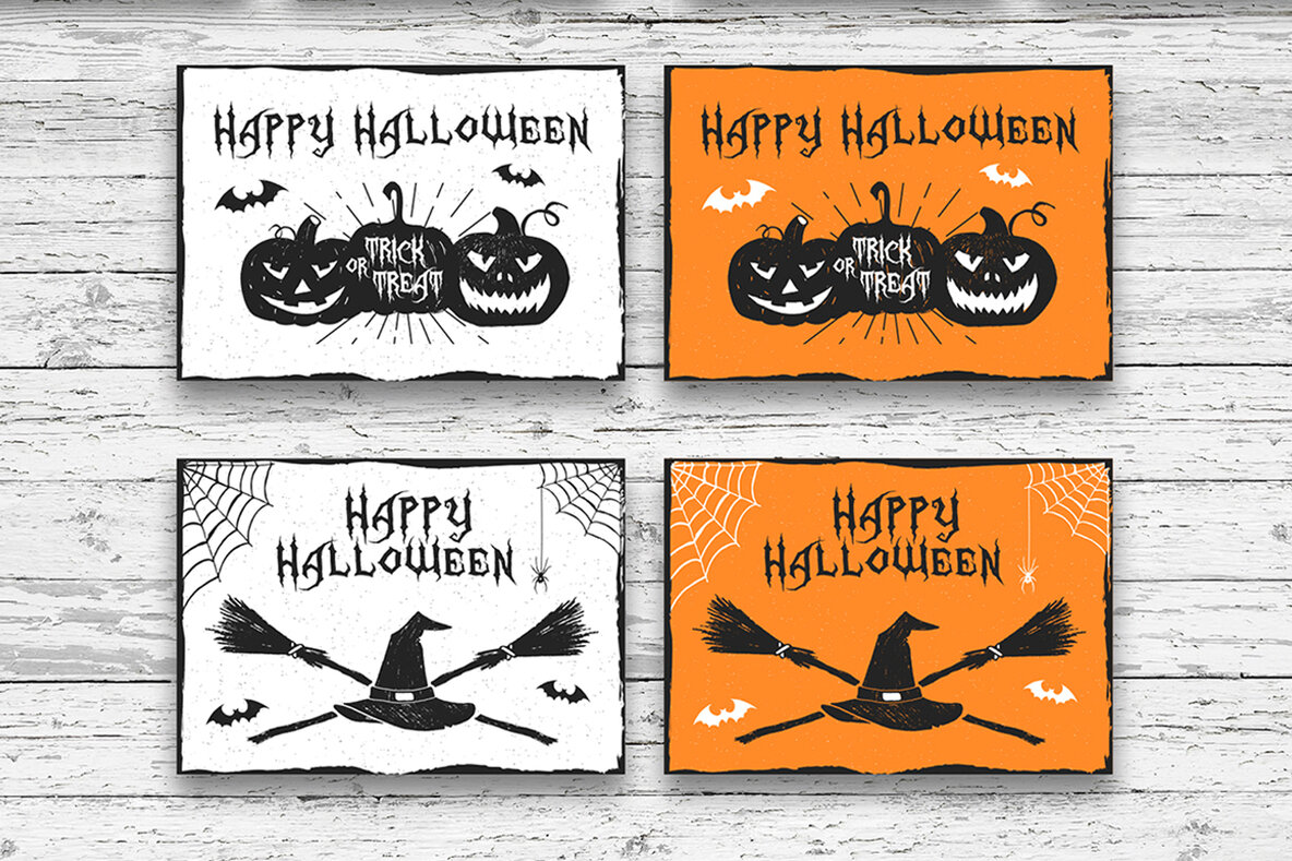 20 Halloween Greeting Card Designs