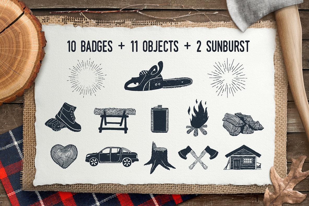 Lumberjack Vintage Badges 1