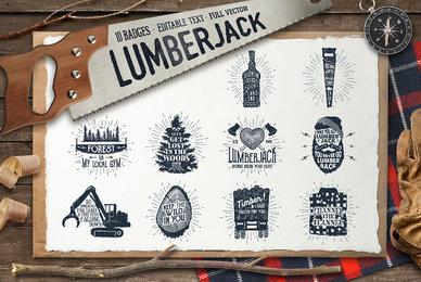 Lumberjack Vintage Badges 2