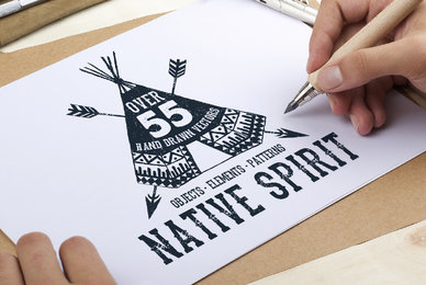 55 Native Spirit Illustrations