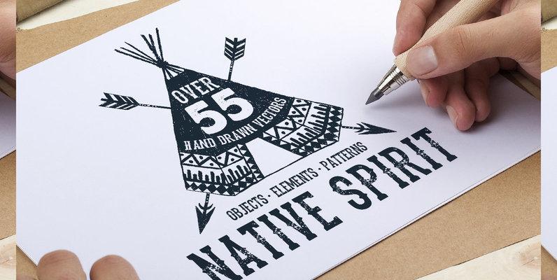 55 Native Spirit Illustrations