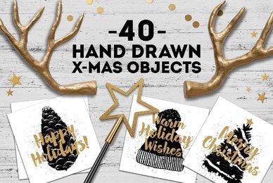 40 Winter Themed Vector Illustrations